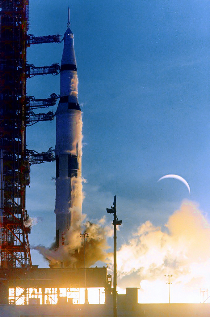 Apollo 8 Saturn V Rocket Launch W/ Camera 11x14 Silver Halide Photo Print Available In Various Designs And Specifications For Your Selection Apollo
